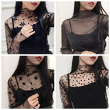 Meshed High Neck Shirts