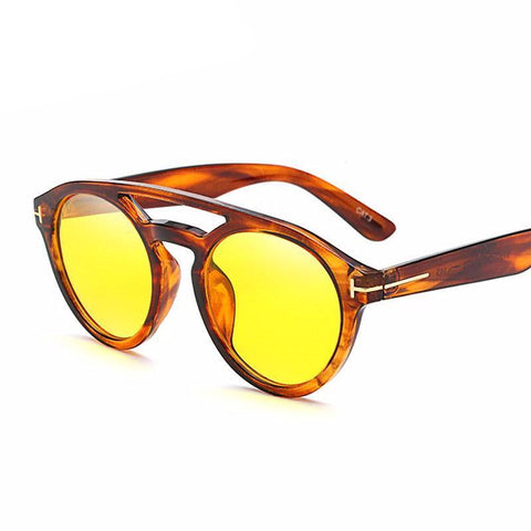 Tinted Round Aviator Shades