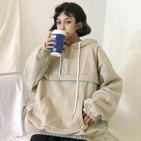Oversized Vintage Korean Pullover
