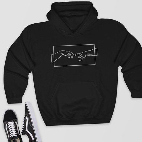 Michelangelo's Creation Of Adam Hoodie