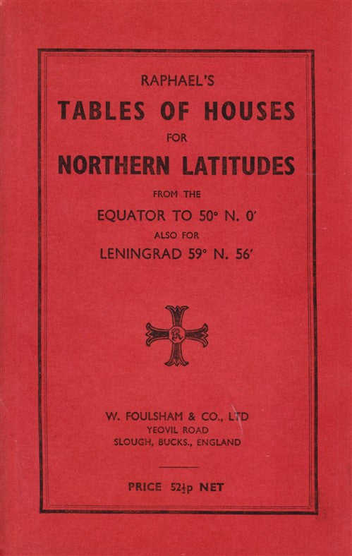 Table Of Houses For Northern Latitudes