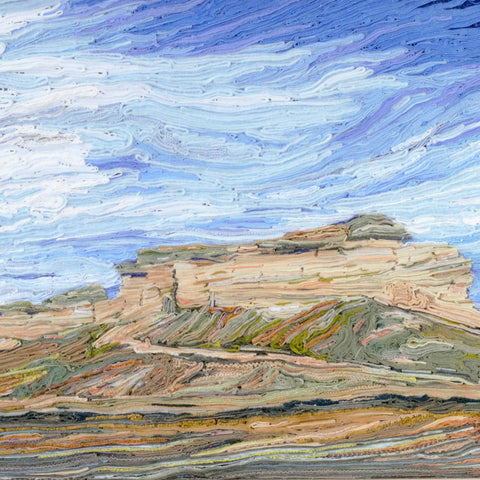 Gillette Wyoming landscape made with discarded clothing