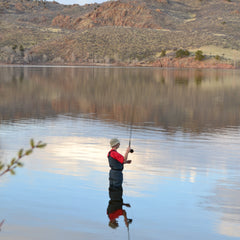 Dave fly fishing at Curt Gowdy State Park in Wyoming