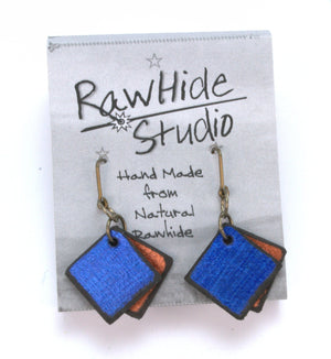 Rawhide Studio earrings come on an attractive display card and included two plastic ear nuts
