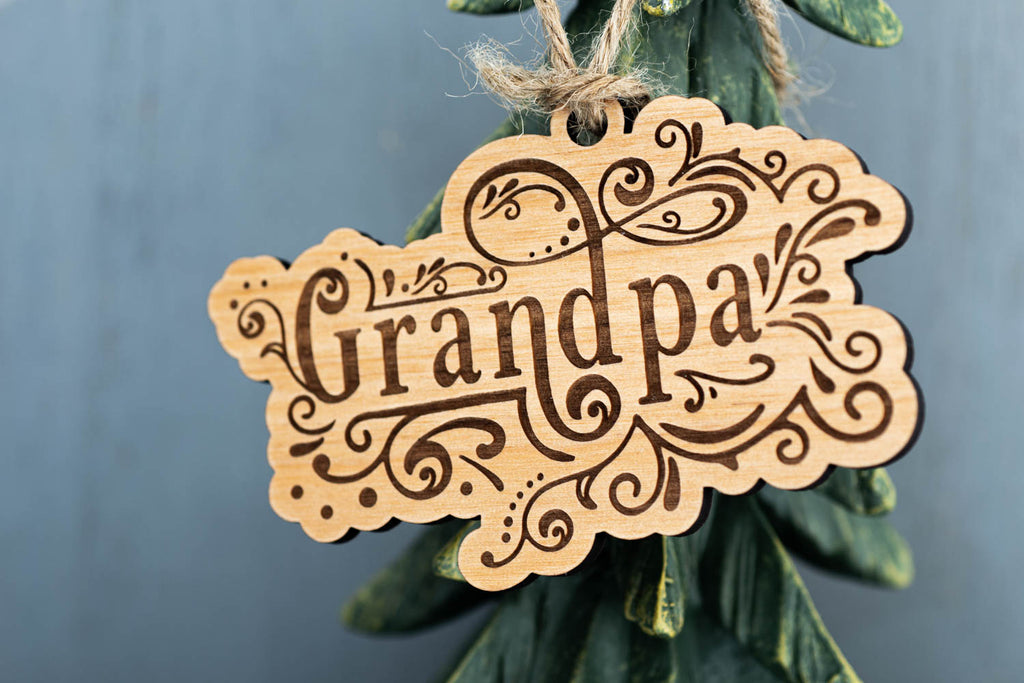 Personalized Pet Name Christmas Tree Ornament Laser Engraved Wood Custom Stocking Stuffer Gift - WayvDesigns