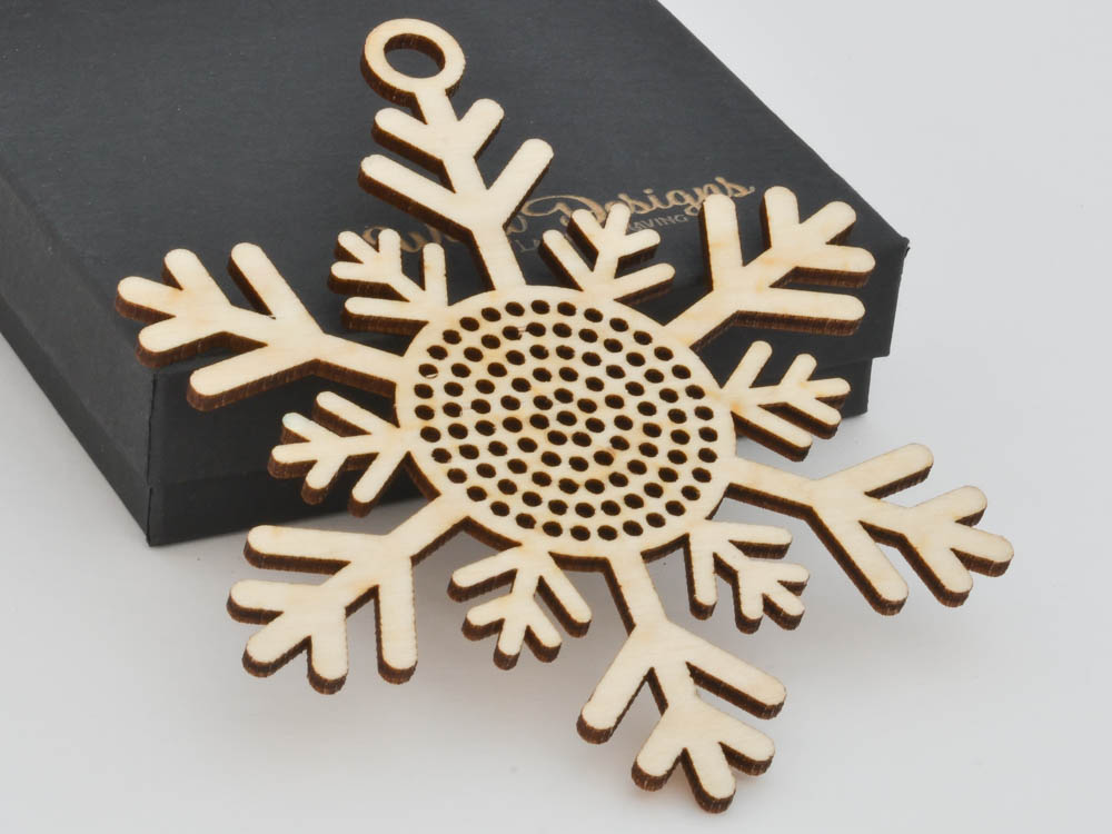 Snowflake Cross Stitch Ornament Stitchable Christmas Tree Decoration BSOS01-01 - WayvDesigns
