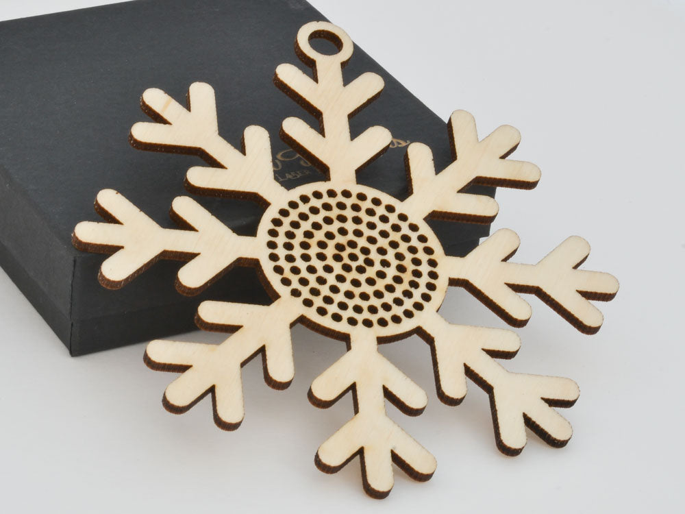 Snowflake Cross Stitch Ornament Stitchable Christmas Tree Decoration BSOS03-03 - WayvDesigns