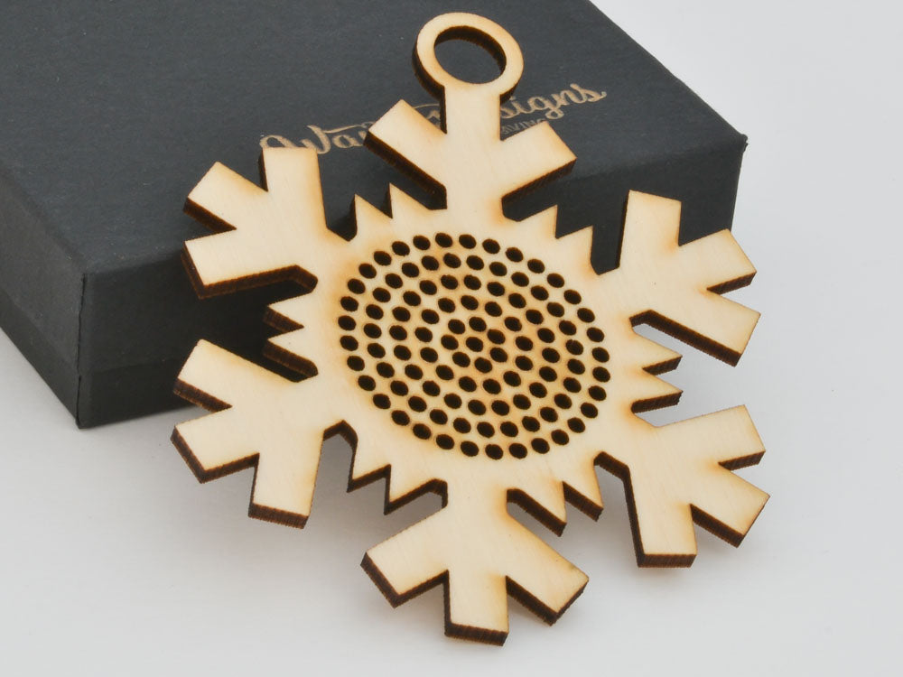 Snowflake Cross Stitch Ornament Stitchable Christmas Tree Decoration BSOS03-05 - WayvDesigns