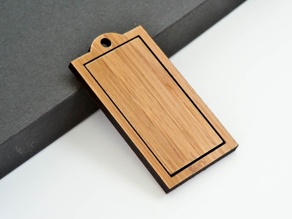 "1"" x 2"" Embroidery Hoop Rectangle Frame Pendants Large 25mm x 50mm Laser Cut from Wood EHPREC-2550 - WayvDesigns"