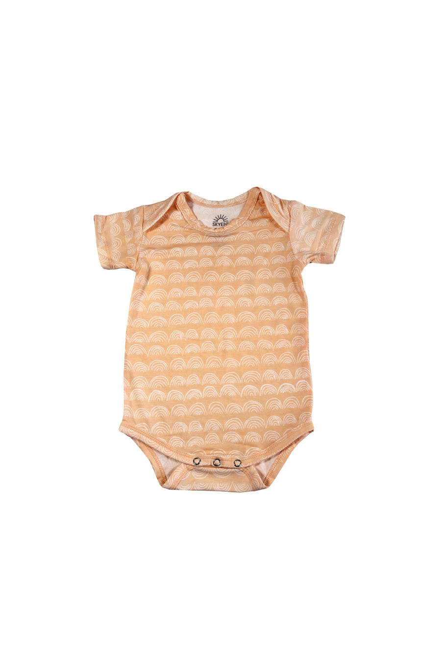 Short Sleeve Onesie - Beach Sand Rainbow