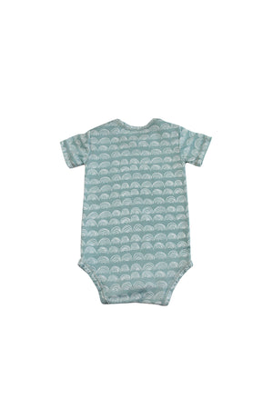 Short Sleeve Onesie - Surfspray Rainbow