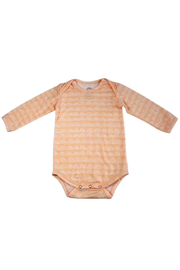 Long Sleeve Onesie - Beach Sand Rainbow