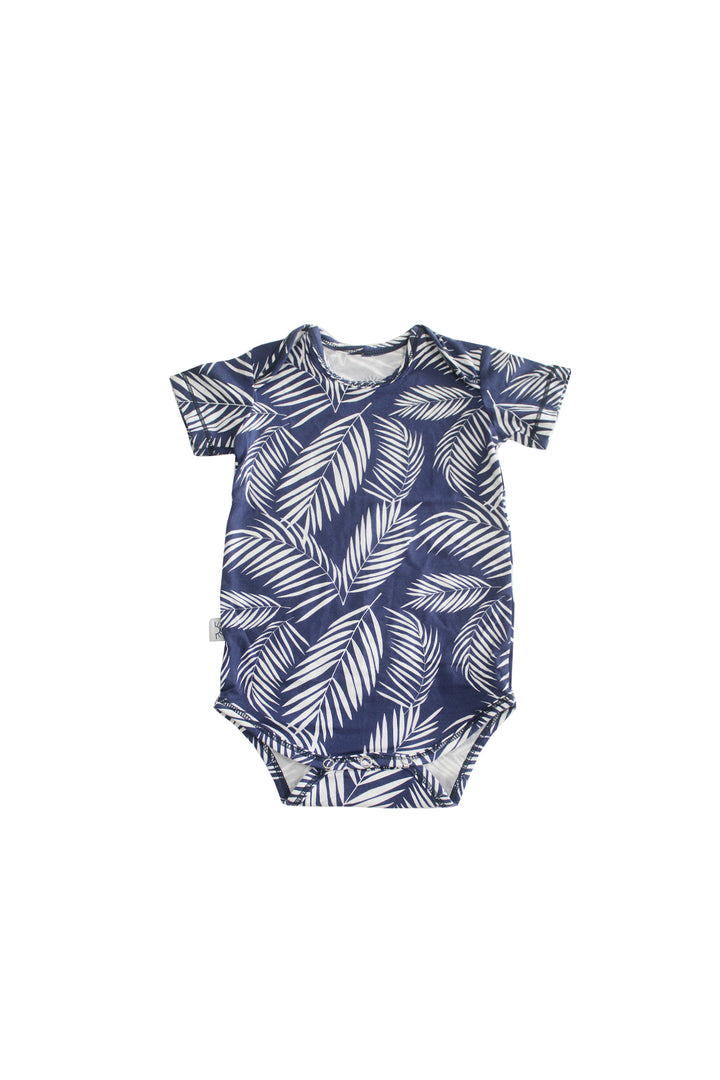 Short Sleeve Onesie - Coastal Frond