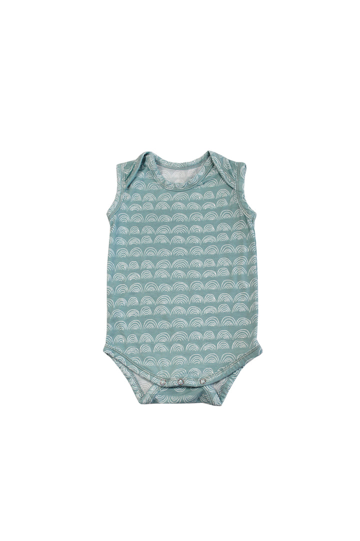 Sleeveless Onesie - Surfspray Rainbow