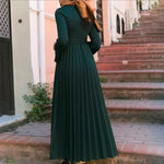 Muslim Womens Long Sleeve Islamic Maxi Dresses Abaya