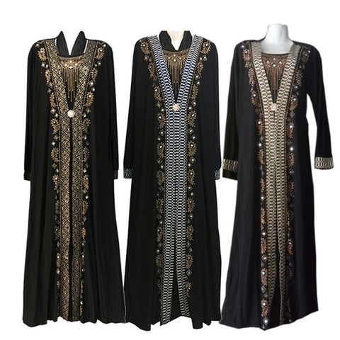 Ladies Kaftan Muslim Dress Islamic Clothing Maxi Dress
