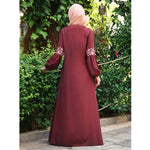 Women Fashion Dress Kaftan Abaya Long Sleeve Maxi Dress