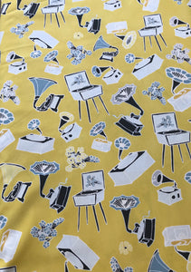AGF Gramophone Design Fabric