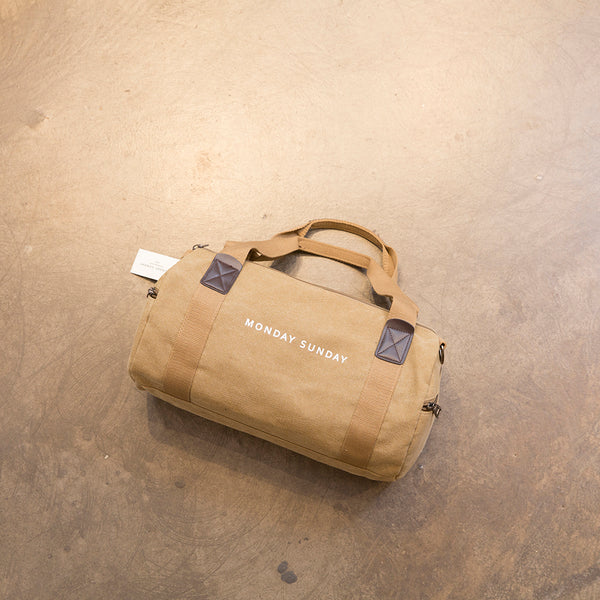 Monday Sunday Canvas bag-7017 Bags Khaki