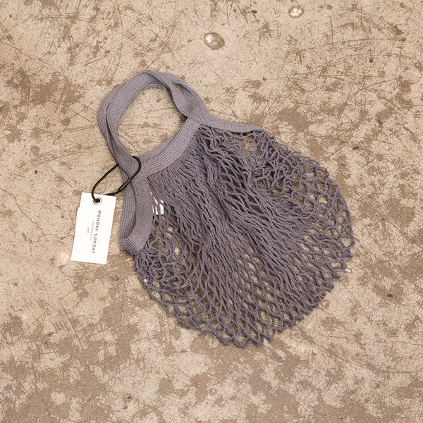 Monday Sunday SMALL MESH BAG -GREY Bags Grey