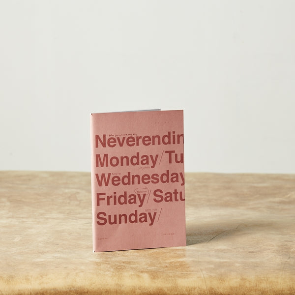 Monday Sunday Soft notesbøger, små notesbøger med klamme Notebooks Pink