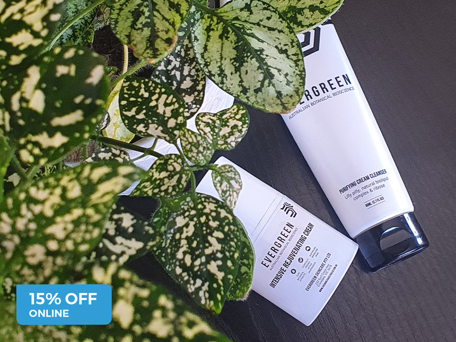 15% off all skincare online - Evergreen Australia