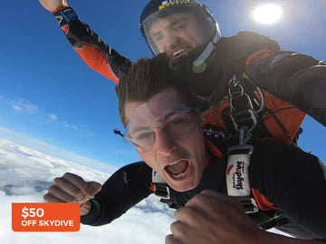 $50 off a tandem skydive - Australian Skydive