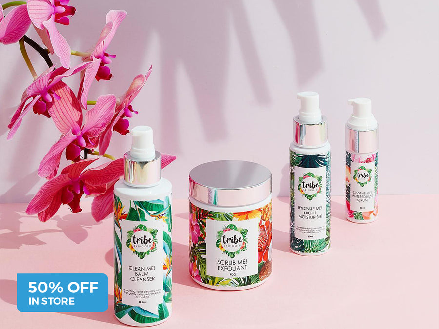 5O% Off Tribe Skincare