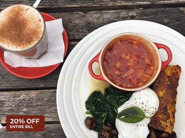 Get 20% Off your entire bill with Sandbah Cafe