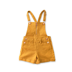 Onederful Co Girls Shortall overall with Heart Pockets and Zipper Front