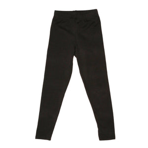 Onederful Co Girls Black High Waisted Legging Front View