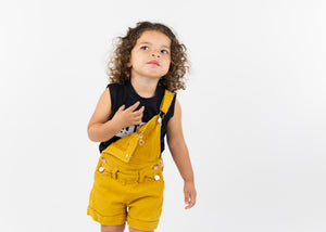 Heart Zip Shortalls