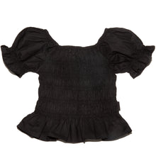 Load image into Gallery viewer, Onederful Co. Girls Puff Sleeve Top Black