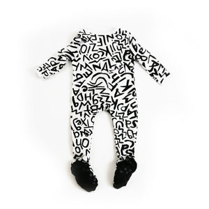 Onderful Co. Baby Onesie in modern black and white print by JOJO&IZZY