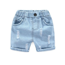 Load image into Gallery viewer, Onederful Co. Destructed Denim Short for Boys