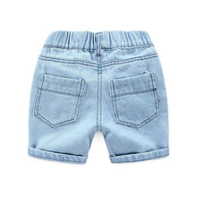 Load image into Gallery viewer, Onederful Co. Destructed Denim Short for Boys. Back Pockets.