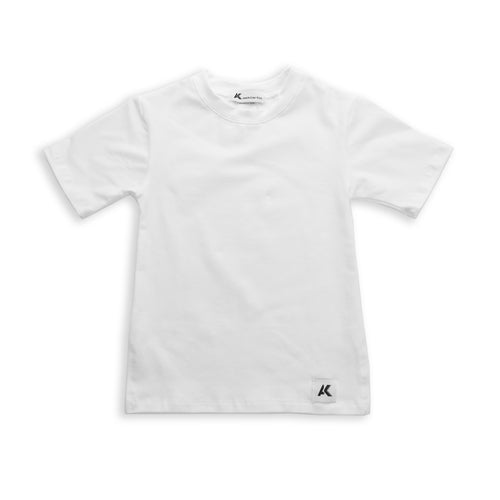Onederful Co. White Crew neck T-Shirt with side vents and modern fit.