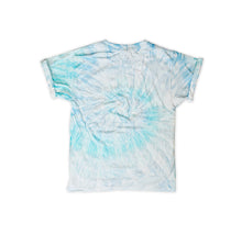 Load image into Gallery viewer, Onederful Co. Boys Sky Aqua Tie Dye Tee Back