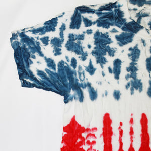 Onederful Co boys red white and blue real tie dye tee sleeve