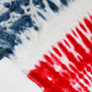 Onederful Co boys red white and blue true tie dye t-shirt