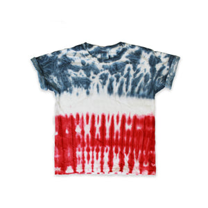 Onederful Co. Boys Red White and Blue Tie Dye T-Shirt.