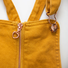 Load image into Gallery viewer, Onederful Co Girls shortall overall with rose gold  zipper