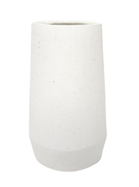 30.5CMH PAVO TEXTURED CERAMIC VASE - WHITE