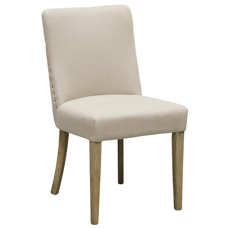 Bastide Chair in Linen with Oak Legs