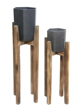 S2 AAPO PLANTER W WOODEN STAND