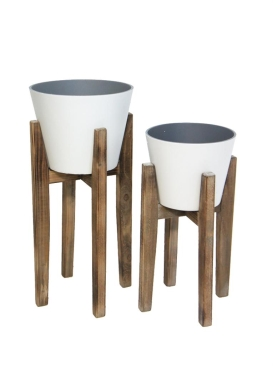 S2 AARO PLANTER W WOODEN STAND