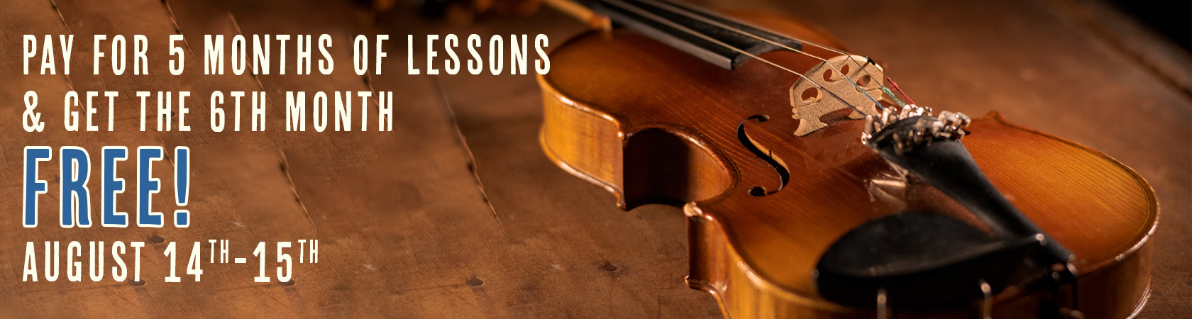 Discounted Lessons