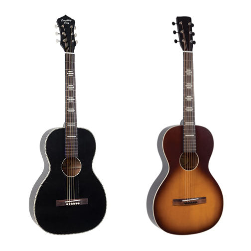 Two options of acoustic guitar rentals.