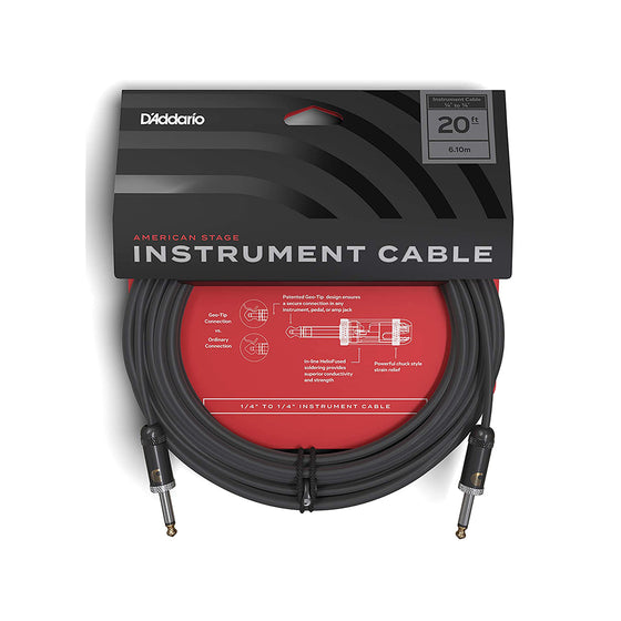 D'Addario American Stage Instrument Cable 20ft