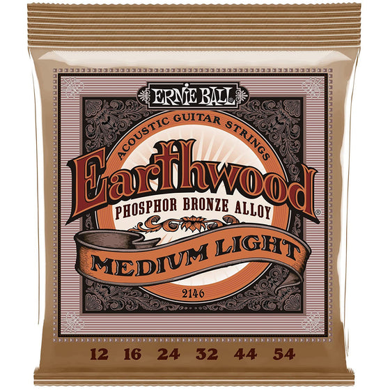 Ernie Ball Earthwood Phosphor Bronze Acoustic Strings (Medium Light)